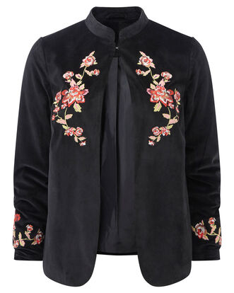 Embroidered Velour Jacket