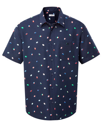 Short Sleeve Soft Touch Flag Print Shirt
